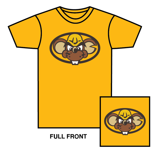 Picture of Youth Gold Mascot Head T-Shirt